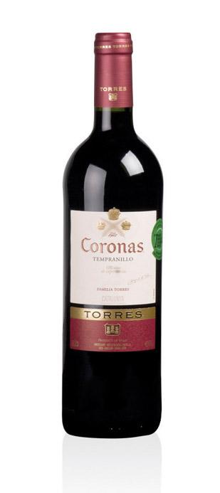 Vino Tinto Tempranillo Coronas Torres